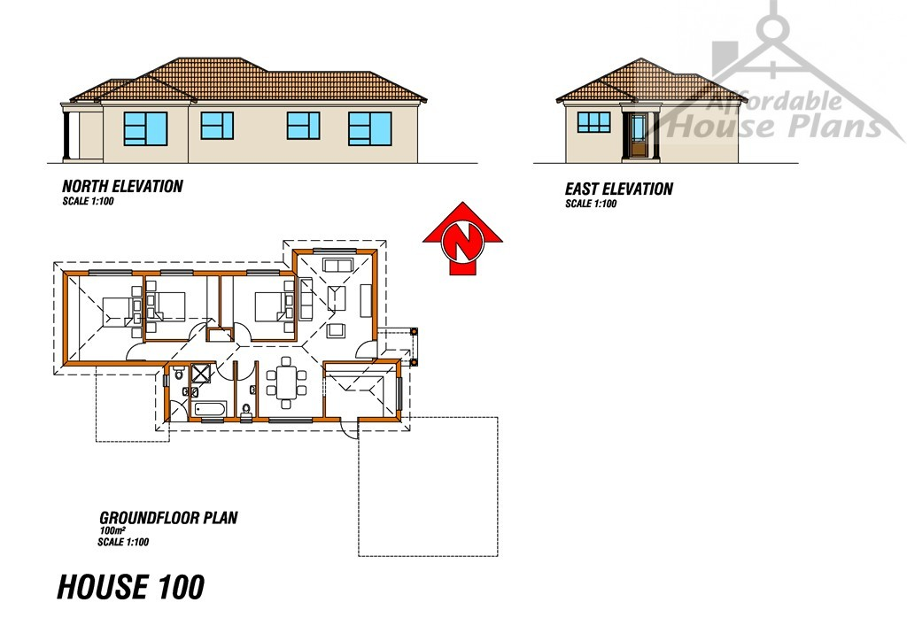 Houseplan 100 affordable house plans for Cheap home floor plans