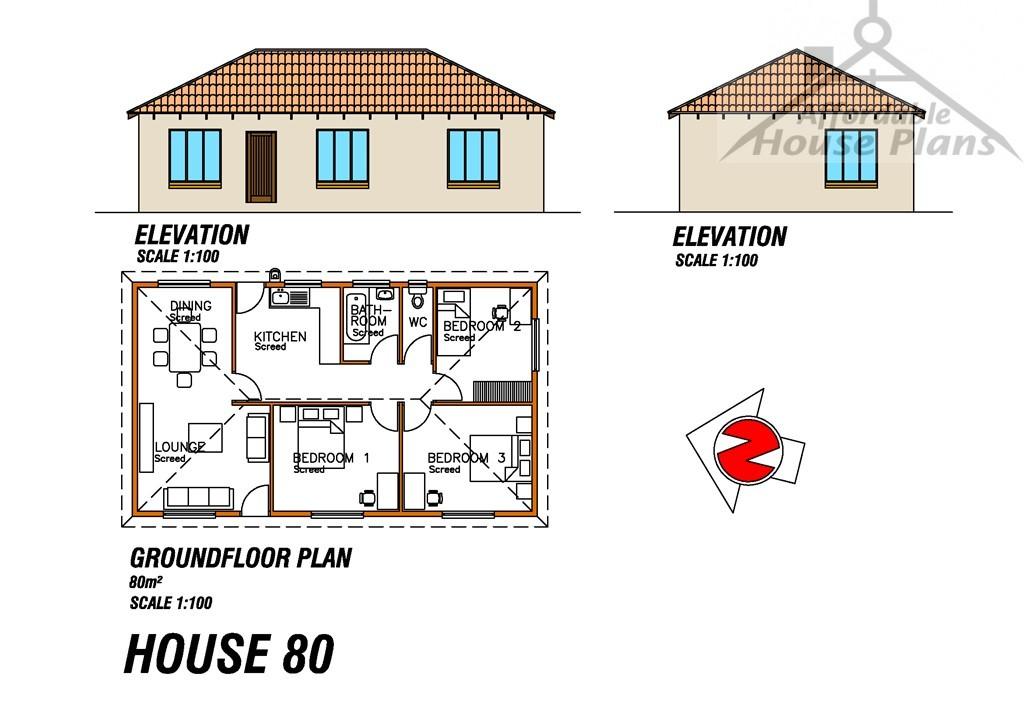 House Plan 80 M Affordable House Plans